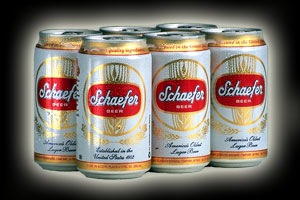 Schaefer Beer: One half of the dynamic duo that sponsored my first teenage bender.